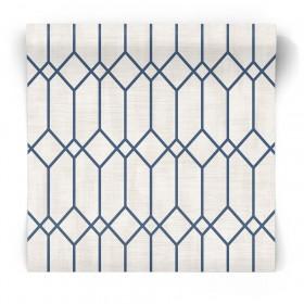 Granatowa tapeta geometryczcna 3736