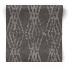 Czarna tapeta geometryczna 3769