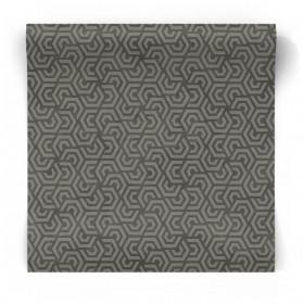 Czarna tapeta geometryczna 3D 3771