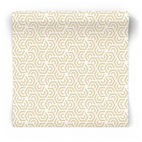 Beżowa tapeta we wzory 3D 3772
