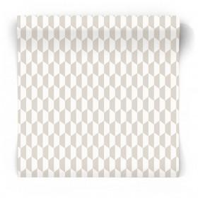 Szaro biała tapeta do salonu 3776