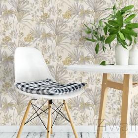 Tapeta Glamour do salonu w żółte rośliny