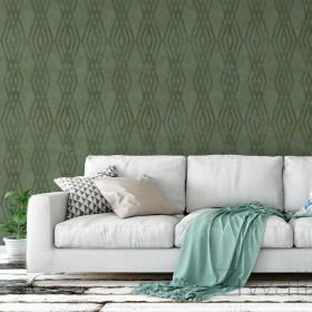 Zielona tapeta geometryczna