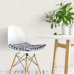 Tapety szaro białe geometryczne aranżacje
