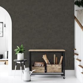 Czarno brązowy beton tapeta na ścianę