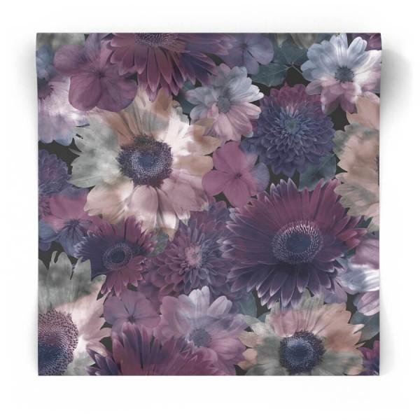 Tapeta w fioletowe kwiaty 104895