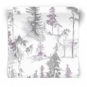 Tapeta czarno biały las 105827