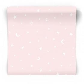 Różowa tapeta do pokoju dziewczynki 90981