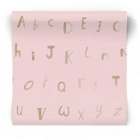 Różowa tapeta witerki dziecięca 12563