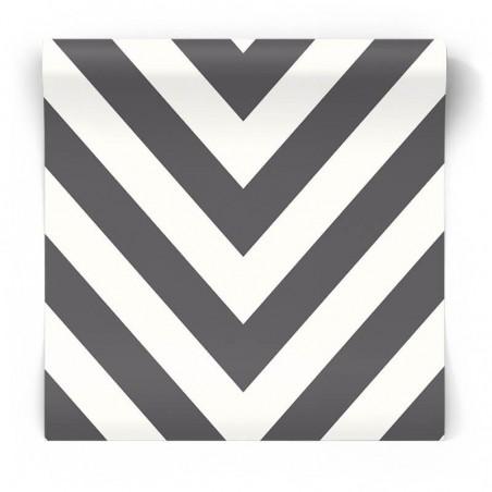 Czarno biała tapeta w zygzaki 12574