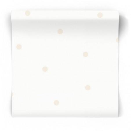 Tapeta szara w kropki 12601