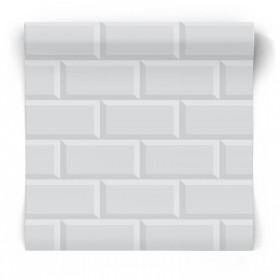 Szara tapeta cegła 3D 103125