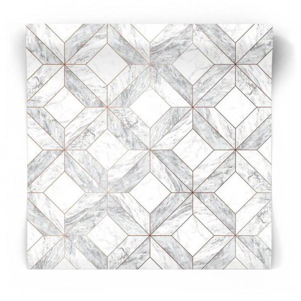 Tapeta geometryczna łazienkowa 103856