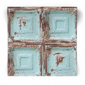 Tapeta drewniane kasetony imitacja 104949