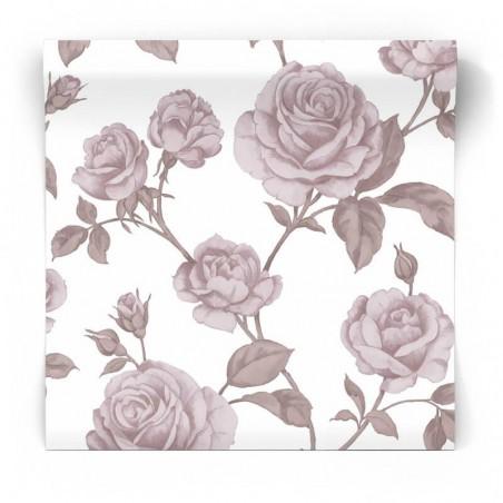 Tapeta w róże kwiaty na białym tle 104137