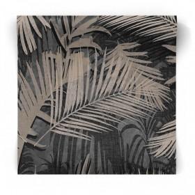 Tapeta tropikalna czarno złota 104263