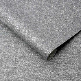 Szara tapeta imitacja tkaniny szara do salonu