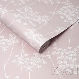 Różowa tapeta do pokoju nastolatki