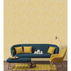 Żółta tapeta do sypialni