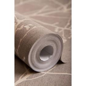 Brązowa tapeta do salonu lub sypialni drzewka gałązki