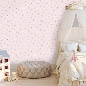 Różowa tapeta do pokoju dziewczynki