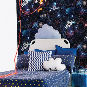 Tapeta kosmos dla dziecka astronauta niebo