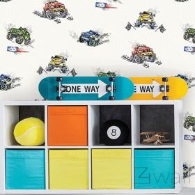 Tapeta dla chłopca w rajdówki i samochody dziecięca