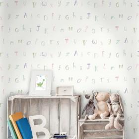 Tapety dziecięce alfabet literki