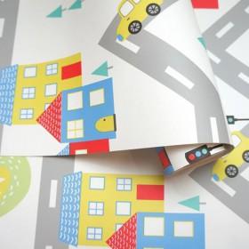 Tapeta do pokoju chłopca w samochody dziecięca