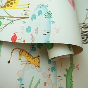 Tapety dziecięce zwierzątka safari