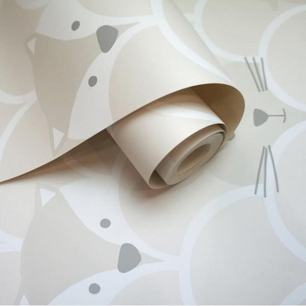 Tapeta w zwierzątka dziecięca zmywalna flizelinowa