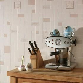Zmywalna tapeta kuchenna beżowa imitacja płytek