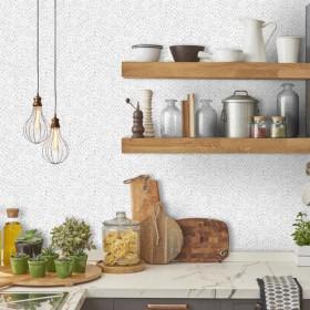 Tapeta w kuchni na jeden ścianie