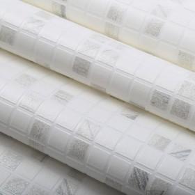 Tapeta w kafelki szaro białe