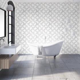 Nowoczesna tapeta do łazienki geometryczna