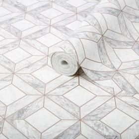 Tapeta do łazienki geometryczna