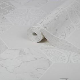 Tapeta łazienka mozaika biała