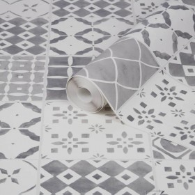 Tapeta imitacja mozaika płytki do łazienki