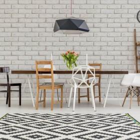Tapeta biała cegła 3D do kuchni