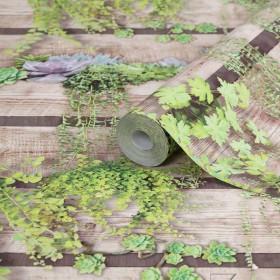 Tapeta w deski kwiaty ogród