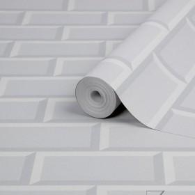 Tapeta biało szara cegła 3D