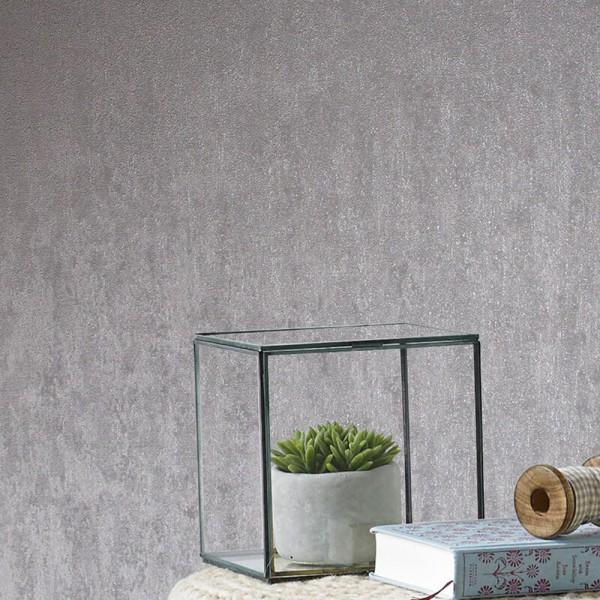 Tapeta imitująca beton srebrna
