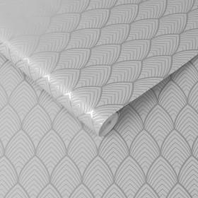 Tapeta geometryczna szar we wzory 3D glamour