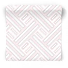 Różowa tapeta w geometryczne wzory GX37601
