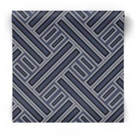 Granatowa tapeta geometryczna GX37602