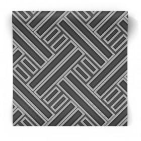 Czarno szara tapeta w geometryczne wzory GX37603