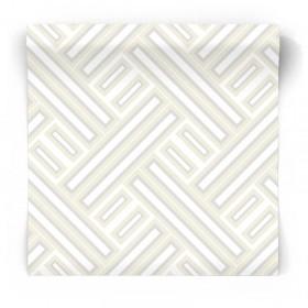 Żółto srebrna tapeta geometryczna GX37604