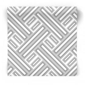 Biało szara tapeta geometryczna GX37608