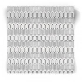Szara tapeta we wzory geometryczne GX37609