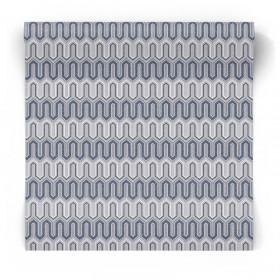 Granatowa tapeta wzory geometryczne GX37611